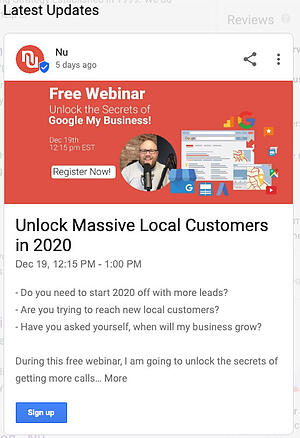 Google My Business Updates Secret Tool