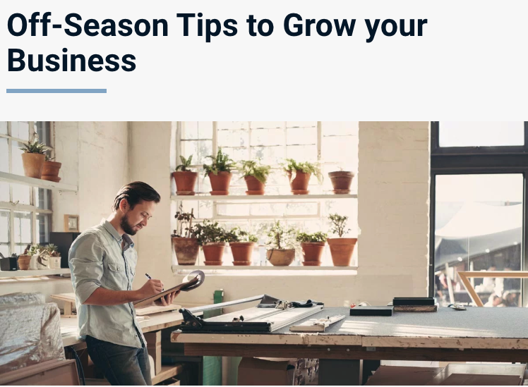 Off-Season Tips to Grow your Business
