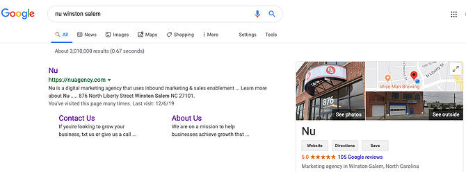 Google My Business Knowledge Graph