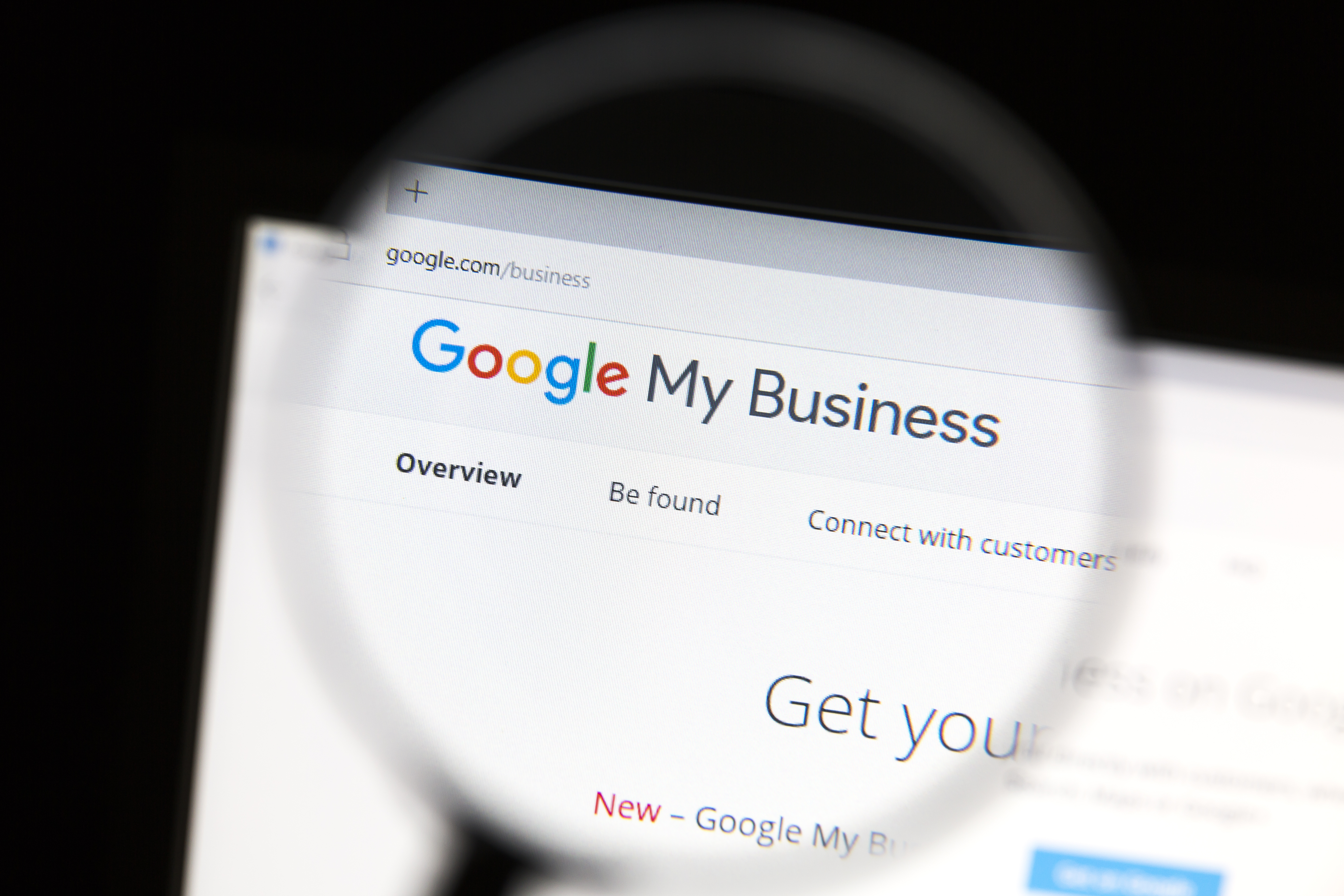 Magnified header of Google My Business