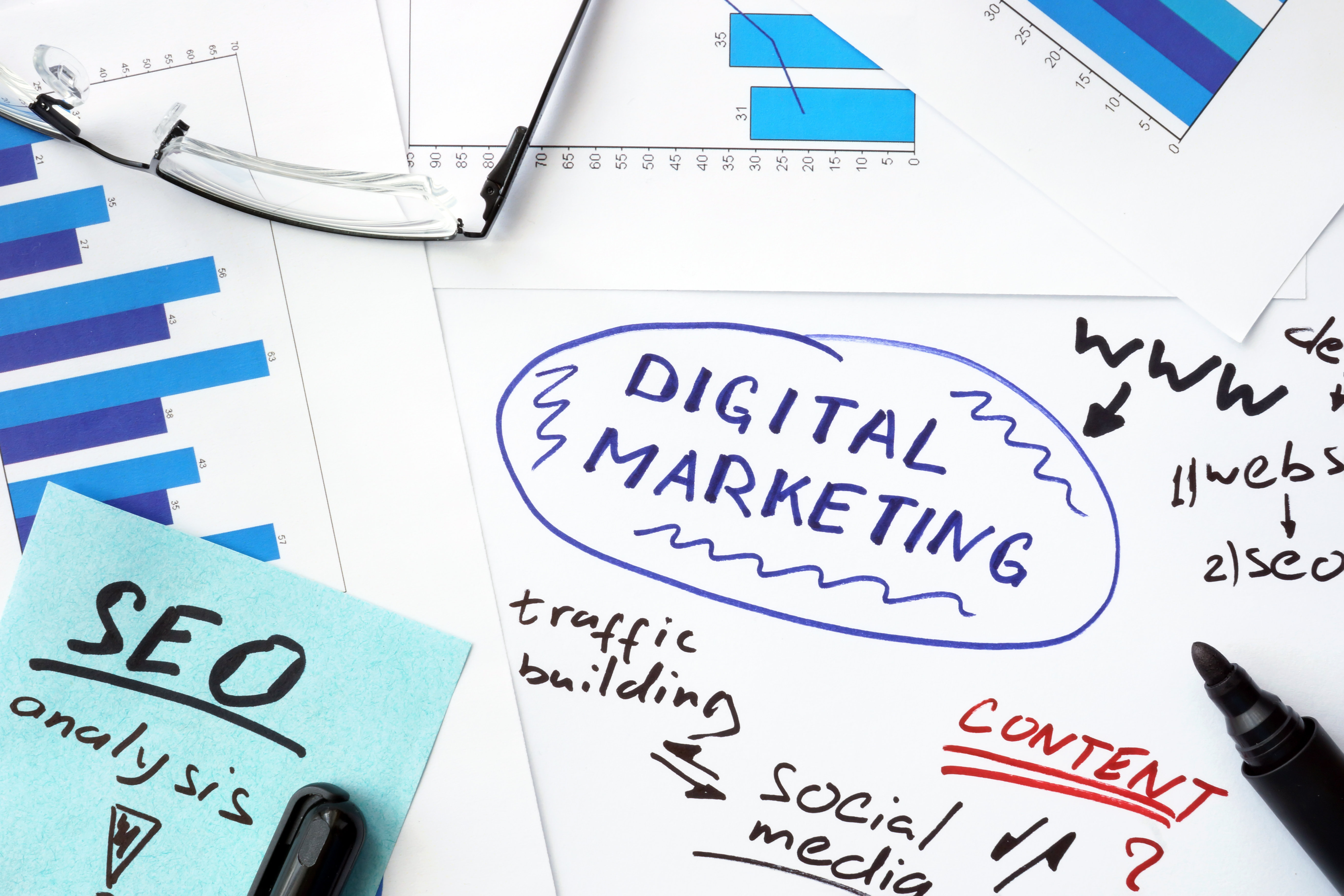 Digital Marketing Strategies Written On a Piece of Paper